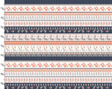 Dwelling - Stripe Animals Multi by Sheri McCulley from 3 Wishes Fabric