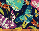Butterfly Dance - Butterfly Bugs Black by Sally Kelly from Windham Fabrics
