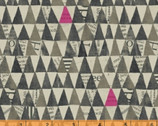 Wonder - Stacked Triangle Charcoal by Carrie Bloomston from Windham Fabrics