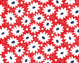 Hi-de-Ho - Daisies Flower Red from Maywood Studio