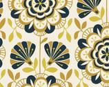 Bohemian Garden - Ranunculus Reverie Mustard from Cloud 9 Fabrics