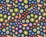 Bohemian Garden - Floral Butterfly from Cloud 9 Fabrics