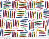 Crayola Art Box - Crayons White from Riley Blake