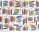 Crayola Art Box - Crayons White from Riley Blake