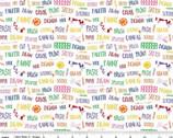 Crayola Art Box - Words White from Riley Blake