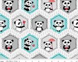 Panda Love - Main Light Gray by Kelly Panacci from Riley Blake