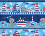 Anchor's Away - Large Sea Stripe by Sharla Fults from Studio E