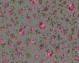 Rose Life Garden - Toss Roses Heather Gray by Kayo Enza from Lecien Fabric
