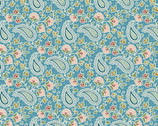 Romance - Paisley Floral Blue by Jason Yenter from In The Beginning Fabric