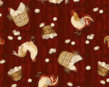 Plain and Simple - Chicken Eggs Deep Red from Henry Glass Fabric