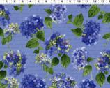 Heavenly Hydrangeas - Toss Blue by Sue Zipkin from Clothworks Fabrics