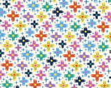 Good Things Will Come - Colorful Sparkle Crosses by Helen Dardik from Clothworks Fabrics