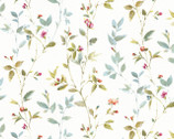 Beautiful Romance - Floral Leaf Vine from David Textiles Fabric