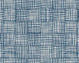Cats and Dogs - Grid Blue by Sarah Golden from Andover Fabrics