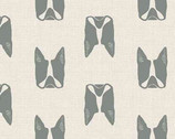 Cats and Dogs - Dogs Grey by Sarah Golden from Andover Fabrics