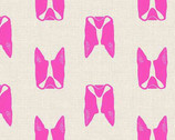 Cats and Dogs - Dogs Pink by Sarah Golden from Andover Fabrics