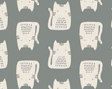 Cats and Dogs - Cats Grey by Sarah Golden from Andover Fabrics