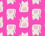Cats and Dogs - Cats Pink by Sarah Golden from Andover Fabrics