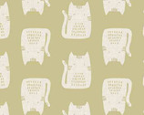 Cats and Dogs - Cats Tan by Sarah Golden from Andover Fabrics