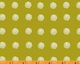 Lemmikki - Piste Dots Mustard Green by Lotta Jansdotter from Windham Fabrics