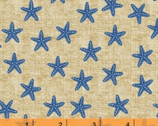 Shoreline - Starfish Blue by Whistler Studios from Windham Fabrics