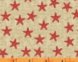 Shoreline - Starfish Red by Whistler Studios from Windham Fabrics