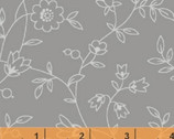Grace II - Floral Vine Dark Gray by Whistler Studios from Windham Fabrics