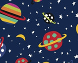 Aliens - Planets Navy Blue by Jan Avellana from Windham Fabrics