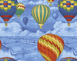 Adventure Awaits - Balloon Scenic Blue by Whistler Studios from Windham Fabrics
