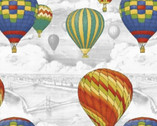 Adventure Awaits - Balloon Scenic Gray by Whistler Studios from Windham Fabrics