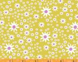 Daisy Chain - Daisies Mustard Yellow by Annabel Wrigley from Windham Fabrics