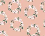 Daisy Chain - Daisy Wreath Pink by Annabel Wrigley from Windham Fabrics