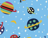 Aliens - Planets Blue by Jan Avellana from Windham Fabrics