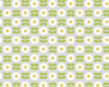 Love Me Love Me Not - Retro Daisy Pale Grey from Lewis and Irene Fabric