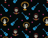 Coco KNIT - Portraits Guitar Black from Springs Creative Fabric