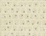 Kyururu - COTTON LINEN Alphabet from Lecien Fabric