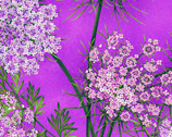 Botanica - Blooms Purple by Color Principle from Henry Glass Fabric