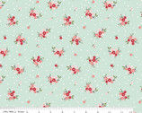 Prairie Posies FLANNEL - Mint Floral by Sedef Imer from Riley Blake Fabric