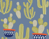 Llama Llama - Blue Cactus from Quilter's Palette Fabric