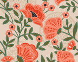 Glorious Garden - Tan Flowers from Quilter's Palette Fabric