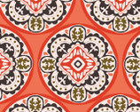 Glorious Garden - Coral Tiles from Quilter's Palette Fabric