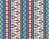 Arctic Girl - Aztec Stripe Aqua from Studie E Fabric