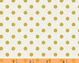 Bookshelf Botanicals - Golden Dots Metallic by Whistler Studios from Windham Fabrics
