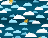 Let's go Glamping - Dark Blue Sky from Wilmington Prints Fabric