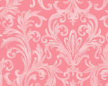 Roses on the Vine - Elegant Scroll Pink by Marti Michell from Maywood Studio Fabric