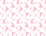 Disney Tinkerbell - Tink Silhouette Pink from Camelot Fabrics