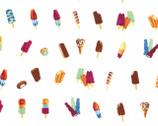 Double Dutch - Popsicles White by Latifah Saafir from Hoffman Fabrics