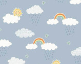 Counting Sheep - Clouds Blue from Makower UK Fabric