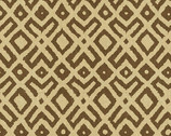 Story Lines - Shapes Brown Beige by Kathy Hall from Andover Fabrics