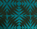 Handcrafted Patchwork Batik - Pineapple Lagoon Teal from Andover Fabrics